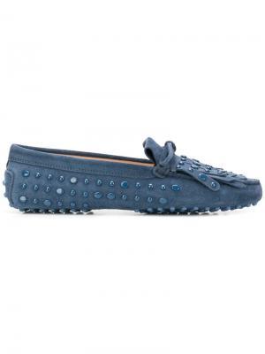 Studded loafers Tod's. Цвет: синий