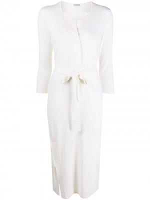 Трикотажное платье с поясом Malo. Цвет: нейтральные цвета