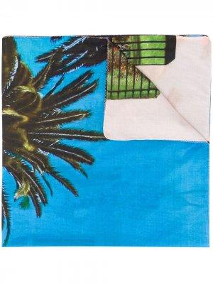Саронг с принтом Tara Matthews. Цвет: синий