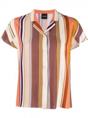 Рубашка в полоску Aspesi. Цвет: оранжевый