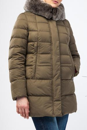Зимняя куртка Clasna. Цвет: хаки