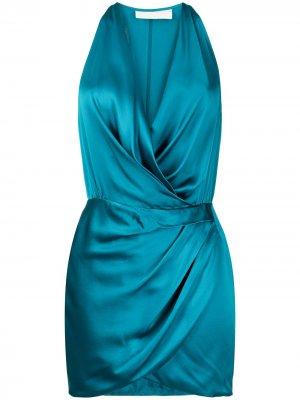 Платье мини с вырезом халтер Michelle Mason. Цвет: синий