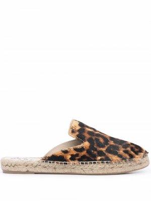 Leopard-pattern espadrilles Manebi. Цвет: коричневый
