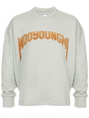 Logo sweatshirt Wooyoungmi. Цвет: серый