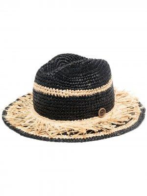 Плетеная шляпа catarzi. Цвет: черный