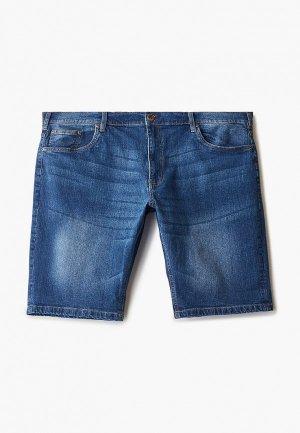 Шорты джинсовые D555. Цвет: синий