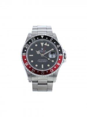 Наручные часы GMT-Master II pre-owned 40 мм 1987-го года Rolex. Цвет: черный