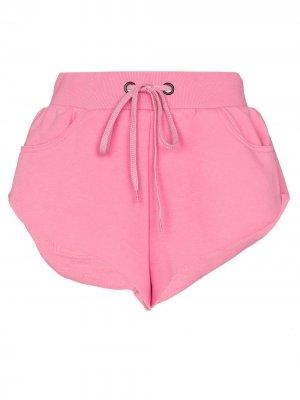 Спортивные шорты с вышивкой Natasha Zinko. Цвет: розовый