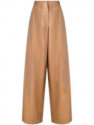 Расклешенные брюки Nina Ricci. Цвет: оранжевый