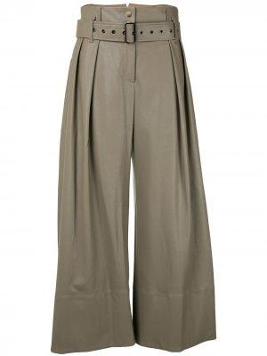Расклешенные брюки с поясом Eudon Choi. Цвет: серый
