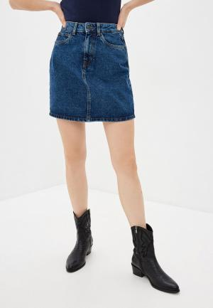 Юбка джинсовая Vero Moda. Цвет: синий