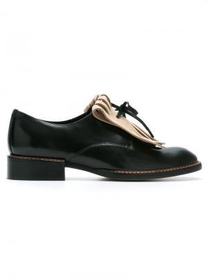 Fringed shoes Sarah Chofakian. Цвет: черный