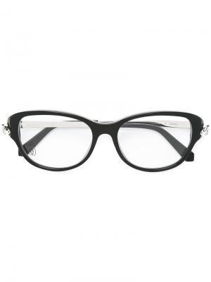 Оптические очки Panthere Cartier. Цвет: черный