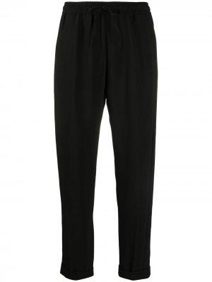 Зауженные брюки с кулиской Seventy. Цвет: черный