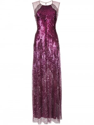 Вечернее платье с пайетками Jenny Packham. Цвет: фиолетовый