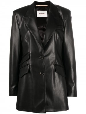 Однобортный пиджак Nanushka. Цвет: черный