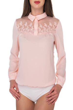 Блуза-боди AREFEVA. Цвет: бежевый