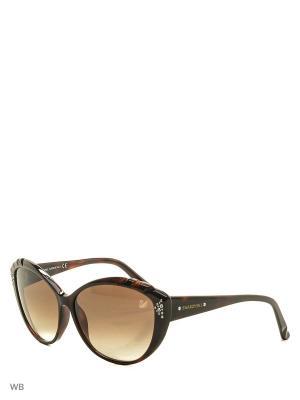 Солнцезащитные очки SK 0056 52F Swarovski. Цвет: коричневый