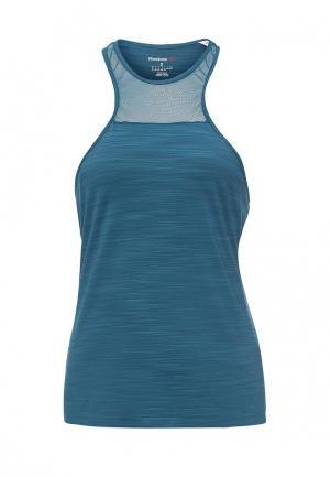 Майка спортивная Reebok. Цвет: синий