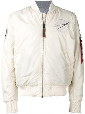 Reversible bomber jacket Alpha Industries. Цвет: белый