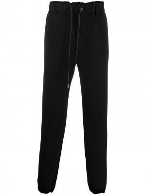 Спортивные брюки с кулиской Sacai. Цвет: черный