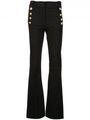 Расклешенные брюки с декоративными пуговицами Robertson Derek Lam 10 Crosby. Цвет: черный