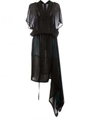 Striped empire dress Ilaria Nistri. Цвет: черный