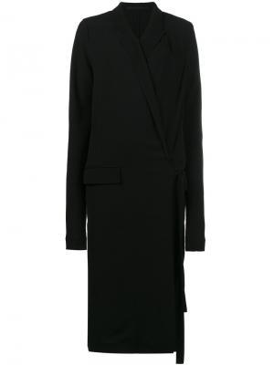 Платье средней длины с запахом Haider Ackermann. Цвет: черный