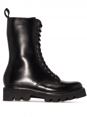 Высокие ботинки в стиле милитари Grenson. Цвет: черный