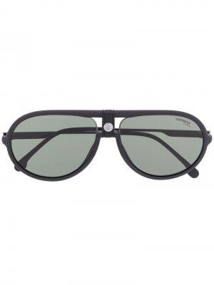 Солнцезащитные очки Pilot Carrera. Цвет: черный