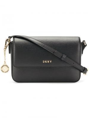Сумка через плечо Bryant с откидным клапаном DKNY. Цвет: черный
