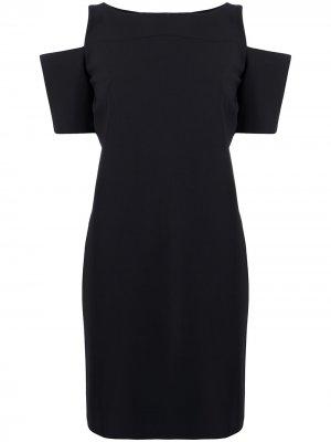 Платье-трапеция Zhavia с открытыми плечами Le Petite Robe Di Chiara Boni. Цвет: черный