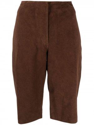 Укороченные брюки Totême. Цвет: коричневый