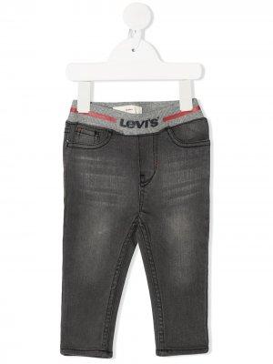 Levis Kids джинсы скинни с поясом в рубчик Levi's. Цвет: серый