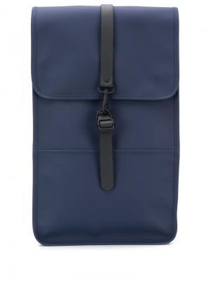 Рюкзак с клапаном Rains. Цвет: синий
