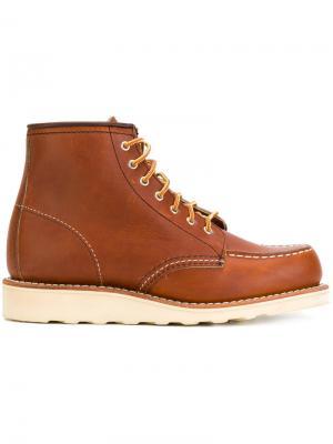 Лоферы со шнуровкой Red Wing Shoes. Цвет: коричневый