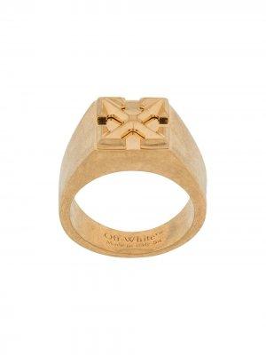 Перстень с логотипом Arrows Off-White. Цвет: золотистый