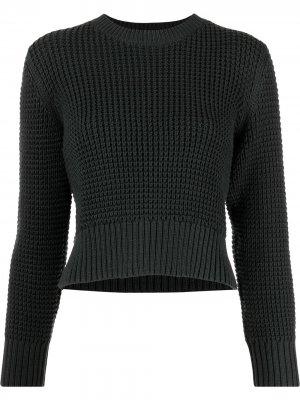Укороченный джемпер крупной вязки Rachel Comey. Цвет: серый