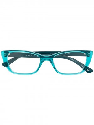 Солнцезащитные очки в оправе кошачий глаз Vogue Eyewear. Цвет: синий
