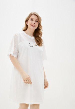 Платье Nike. Цвет: белый
