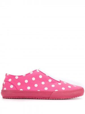 Кроссовки-слипоны в горох Comme Des Garçons Girl. Цвет: розовый