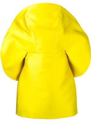 Коктейльное платье со скругленным вырезом Isabel Sanchis. Цвет: жёлтый и оранжевый