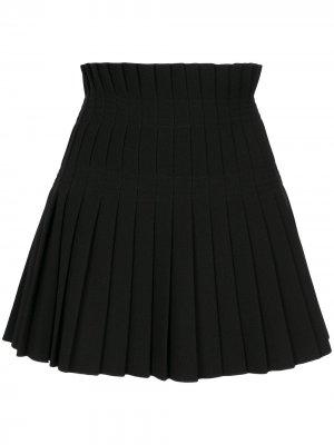 Плиссированная юбка Dion Lee. Цвет: черный