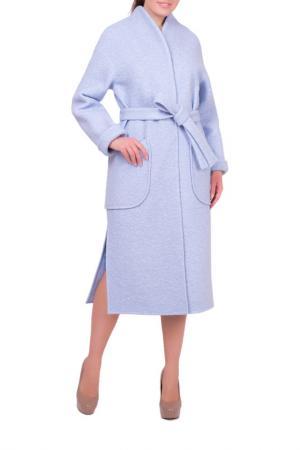 Пальто Argent. Цвет: голубой
