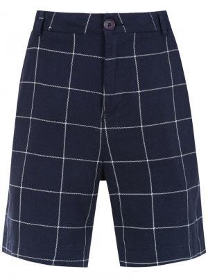 Linen shorts Osklen. Цвет: синий