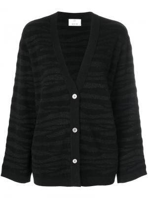 Tonal zebra pattern cardigan Allude. Цвет: чёрный