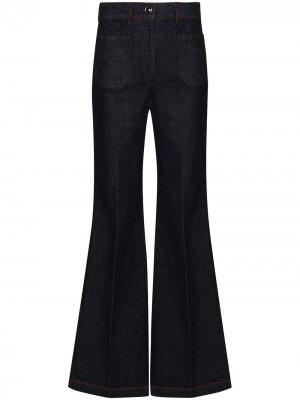 Расклешенные джинсы широкого кроя Victoria Beckham. Цвет: синий