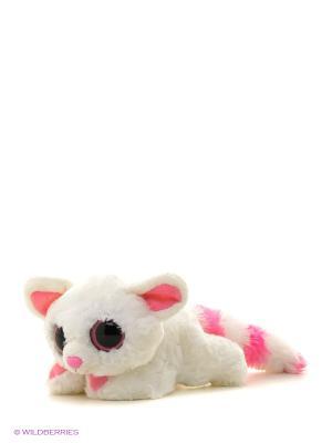 Юху и друзья Игрушка мягкая  Лисица Памми лежачая 16 см AURORA. Цвет: белый