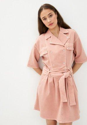 Платье джинсовое Twist & Tango. Цвет: розовый