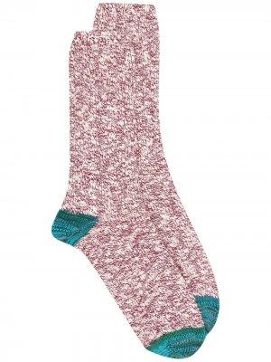 Меланжевые носки Flammé THUNDERS LOVE. Цвет: красный